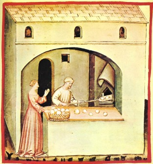 'Baking bread' from Tacuini sanitatis
